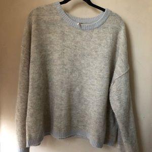 Free people gray 2018 sweater - large